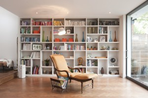 BARBARA GENDA BESPOKE FURNITURE - Milverton Avenue - LIVING ROOM BESPOKE BOOKCASE 1
